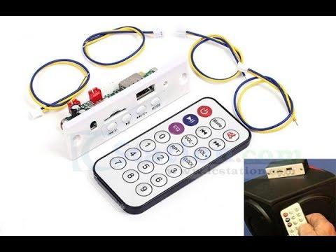 CT10E-BT Беспроводной Bluetooth стерео аудио-приемник MP3 плеер 6W от ICStation