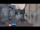 Подсмотрено NEWS/Горящая машина в центре Великого Устюга.