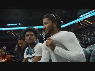 Деррик Роуз приветствует больного лейкемией фаната (Derrick Rose, Minnesota Timberwolves)