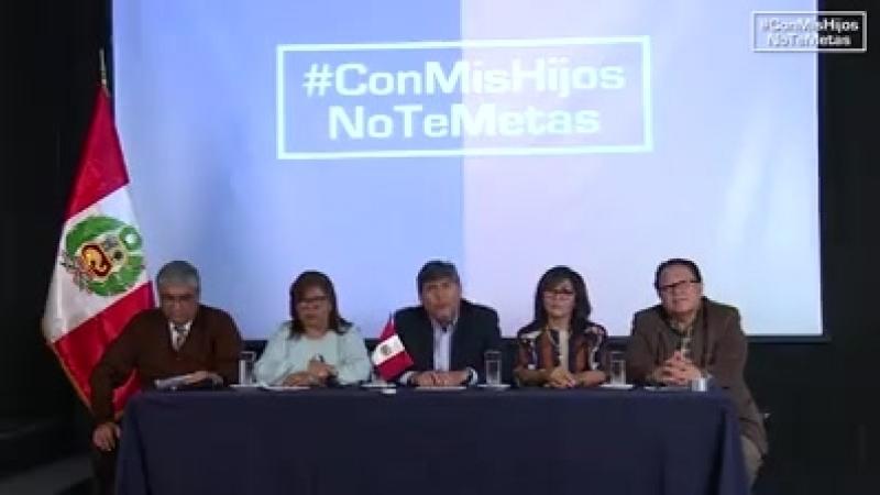Convocatora a movilización en defensa de la familia. 15 noviembre Peru ConMisHijosNoTeMetas