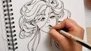 Golden Leaves - Brush Pen Art