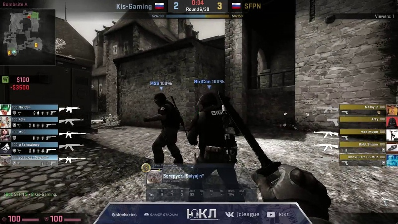 ЮКЛ S2 Kis-Gaming - SPFN | de_cbble (1st map) | Group Stage
