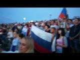 Гимн перед матчем ЧМ по футболу Россия-Хорватия.Пенза г.Спутник