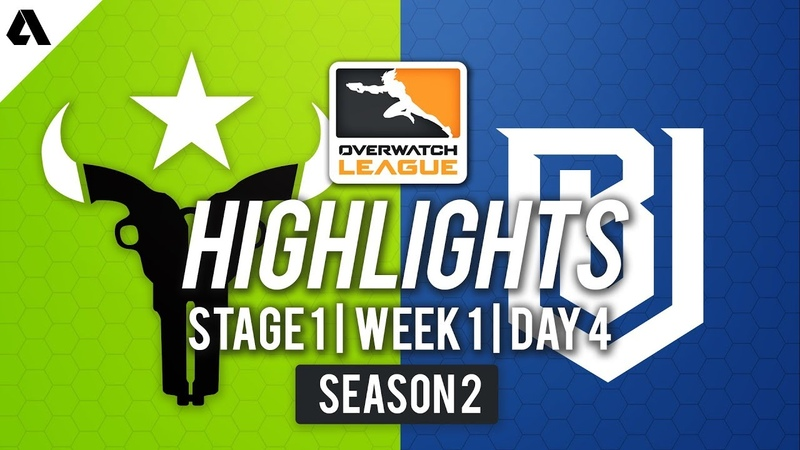 Лучшие моменты Houston Outlaws vs Boston Uprising Stage 1 Week 1 Day 4