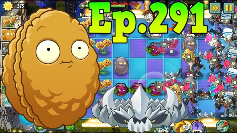 Plants vs. Zombies 2 || Magnet-shroom, Wall-nut, Spikerock - Neon Mixtape Tour Day 8 (Ep.291)