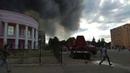 В Стаханове горит кинотеатр Мир