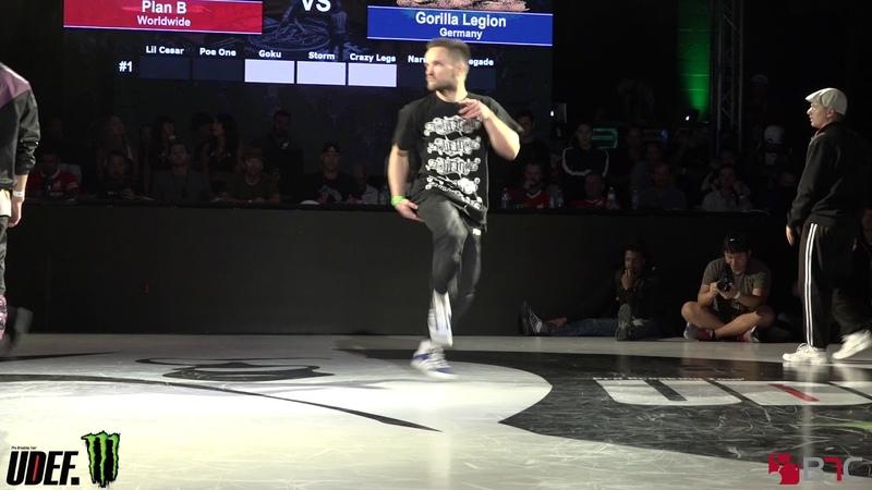 Menno/Hong 10/Vero Vs Gorilla Legion - Top 16 - Silverback Open 2018 - Pro Breaking Tour - BNC