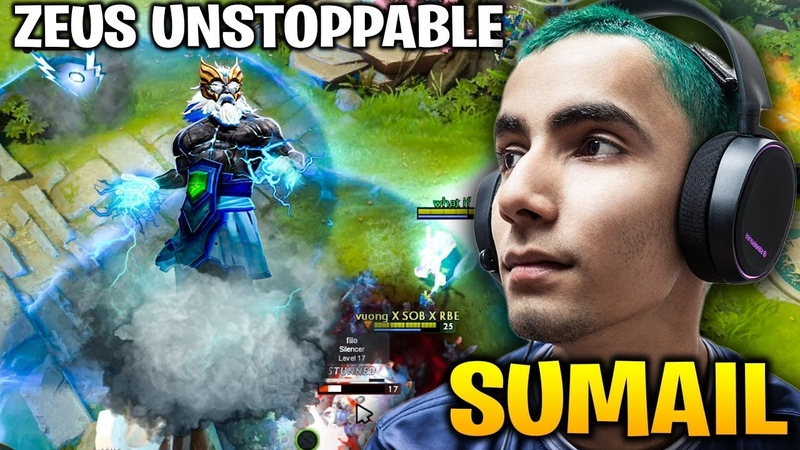 Sumail Unstoppable Zeus with Aghanim's Scepter - NIMBUS POWER