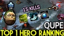 Qupe Pudge Pro Hooks by Top 1 Hero Ranking Support 15 Kills 7.19 Dota 2