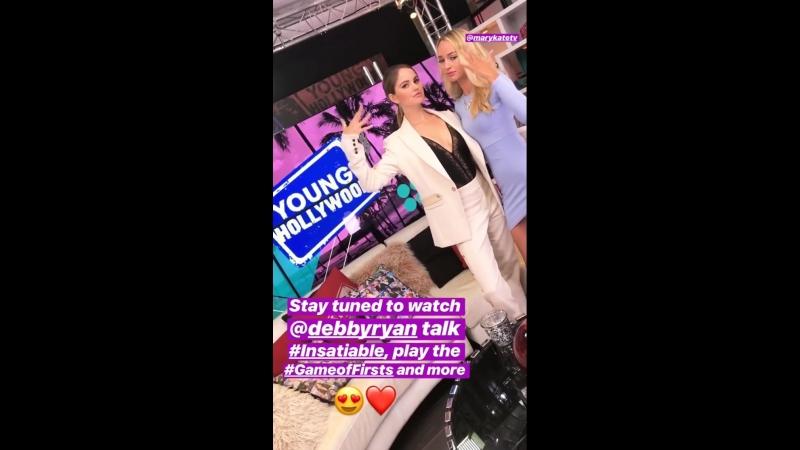 Дебби в студии «Young Hollywood» (15.08.18)