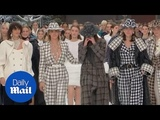 Emotional models walk the runway for Karl Lagerfeld's final collection