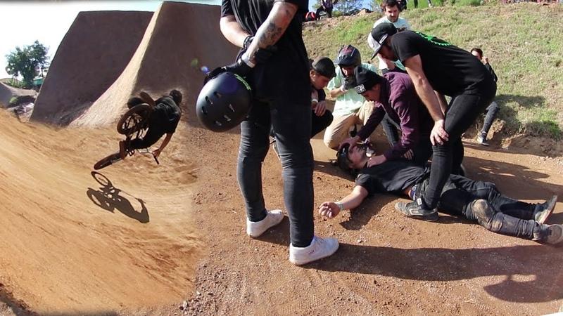 SE CAE DE CABEZA EN EL DIRT (HEAVY CRASH) HAPPYRIDE WEEKEND 2018 AMATEUR BMX VLOG [SERGIBMX]