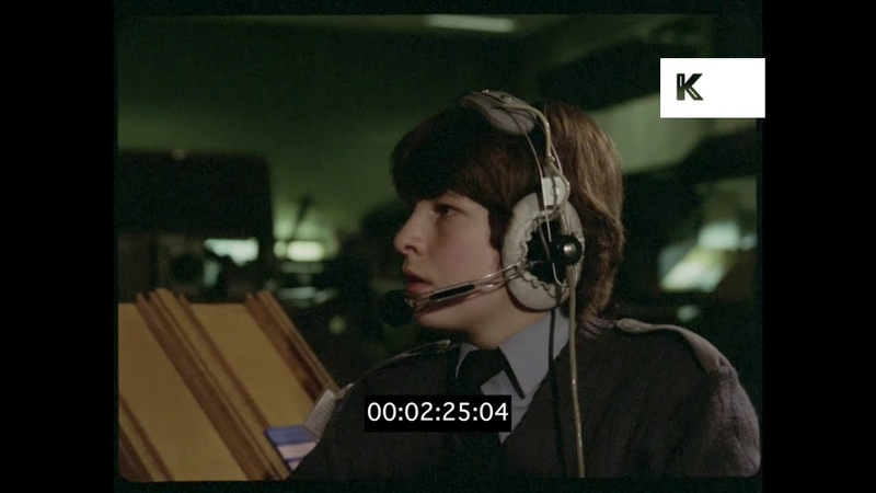 UK Navy Operations Room, 1960s, 1970s, HD from 35mm