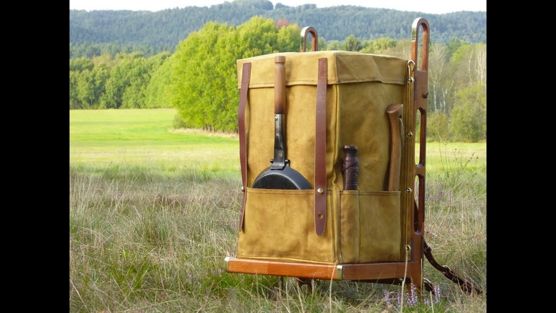 Modified Trapper Nelson backpack/packboard. Year 1860 style pack.