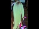 NORTH in Kim's neon wig