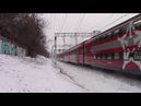 Электропоезд ЭШ2-023 Аэроэкспресс платформа Нижние Котлы