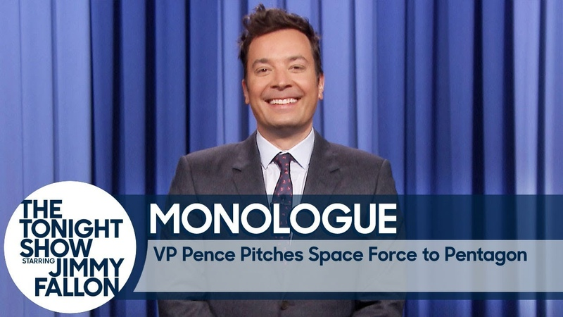 VP Pence Pitches Space Force to Pentagon - Monologue