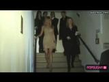 Jennifer in Nude Mini with Gerard Butler in Berlin