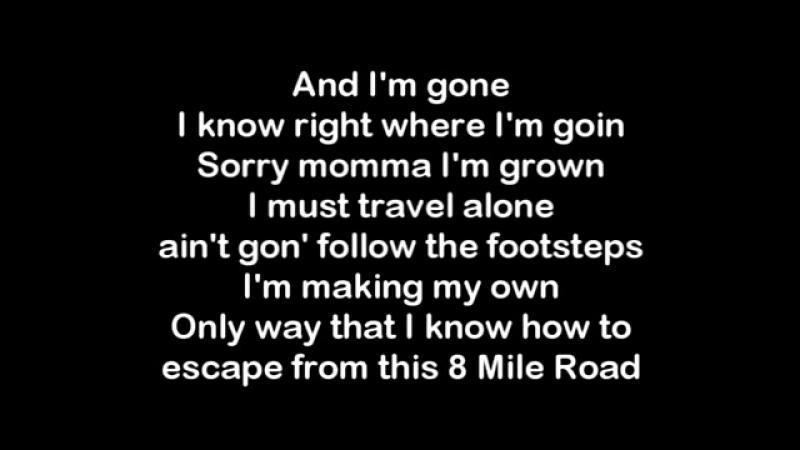 Eminem - 8 mile road (Lyrics)