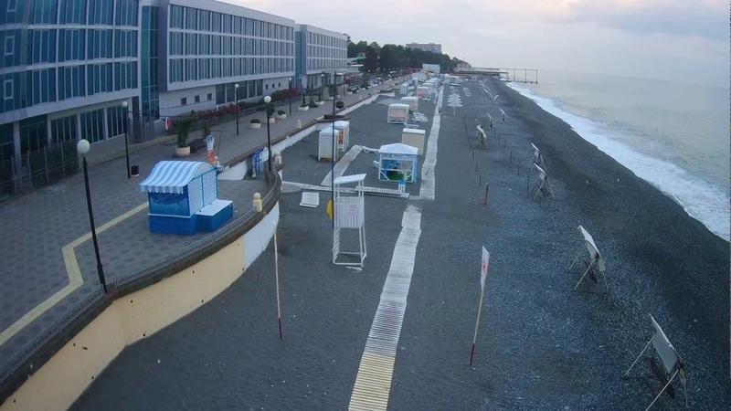 Адлер. Видео пляжа Огонек с квадракоптера. Аренда Жилья.: 7-918-207-00-46