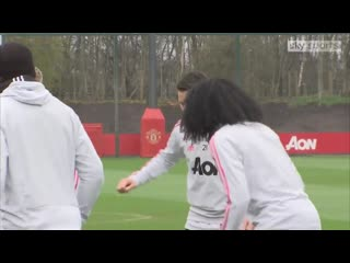 Petite vidéo de lentraînement du jour avec le retour des blessés. [Sky Sports] MUFC -
