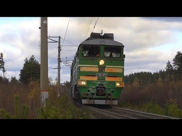 Подмигнул 2ТЭ116 1634 с грузовым поездом и приветливой бригадой