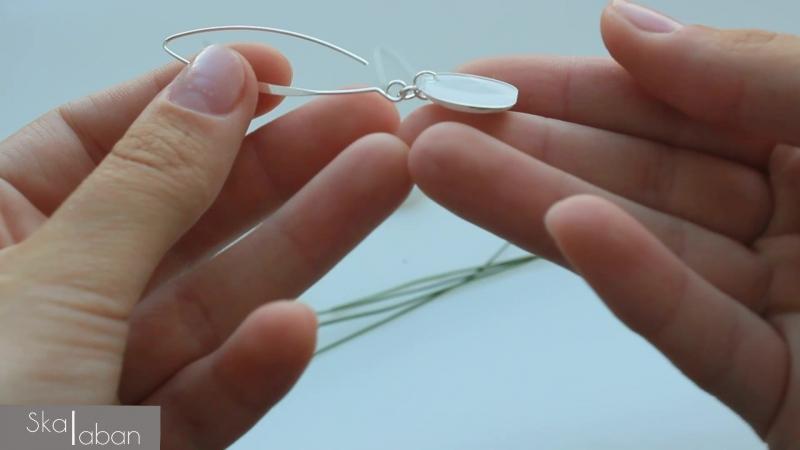 Обзор длинных сережек из оргстекла