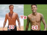 Justin Bieber Vs Neymar Jr Transformation From 10 To 26 Years Old Lifestyle Today