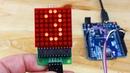 Scrolling Text on LED Dot Display DIY