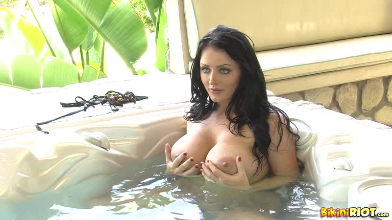 BikiniRiot Jaguar Thong in Hot Tub