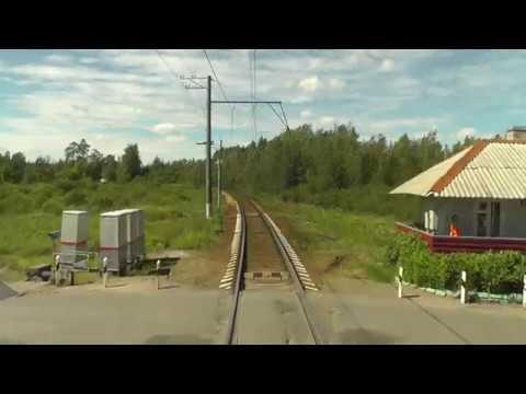 Train Driver's View: Nevskaya Dubrovka - Saint Petersburg Part 2 ( Cab ride view )