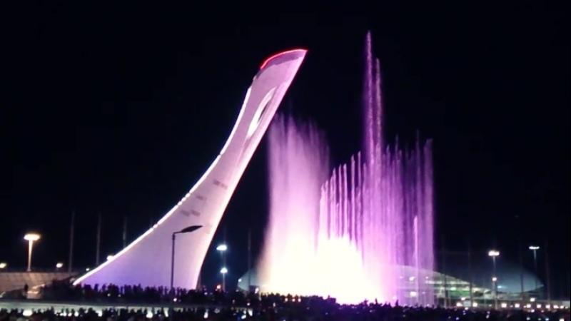 Поющие фонтаны😍👍😜 Олимпиский парк💙