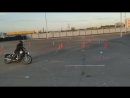 Gymkhana GP Stage 6/ Lilia Hamatgaleeva/Kawasaki Estrella/heat 1/01:04.78