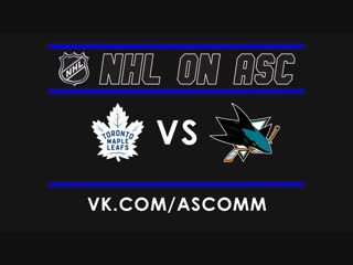NHL   Maple Leafs VS Sharks