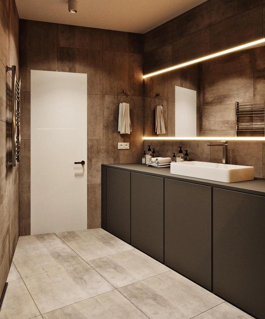 Проект ванной комнаты в Москве, площадь 6 кв.