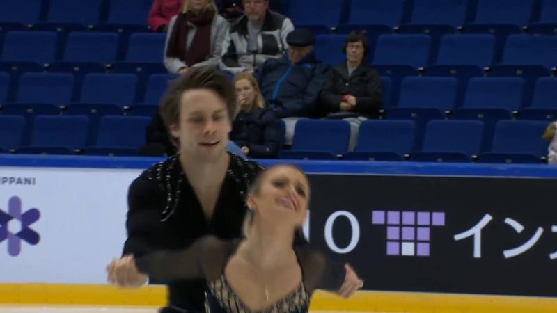 Finlandia Trophy 2018 Kirsten MOORE-TOWERS Michael MARINARO FS