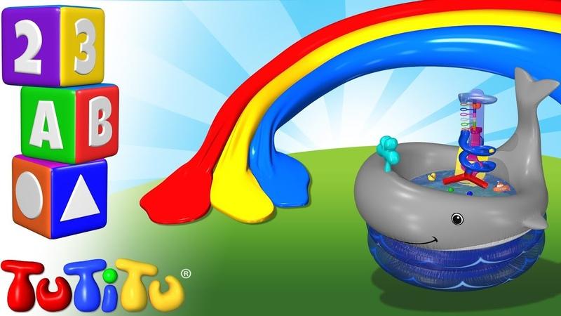 Изучение цвета на английском языке Игрушки для купания TuTiTu дошкольный