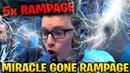 MIRACLE 5x RAMPAGE 2x ULTRAKILL IN 20 MINUTES Dota 2 7 17