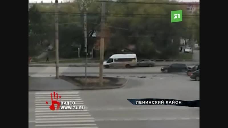 Не починили светофор и уже начались аварии. В Челябинске на оживленном перекрестке в ДТП попало 3 автомобиля