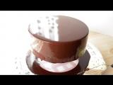 Зеркальная глазурь из какао