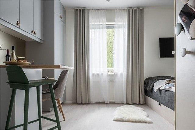 Очень уютная квартира, площадь всего 16 кв.