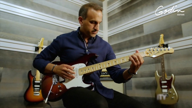 Demoing the versatility of the Godin Session