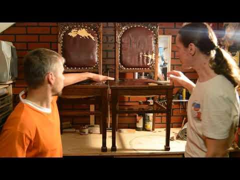 Видеообзор старинных двух стульев (Реставратор мебели Антонов Борис\Дмитрий Силин)