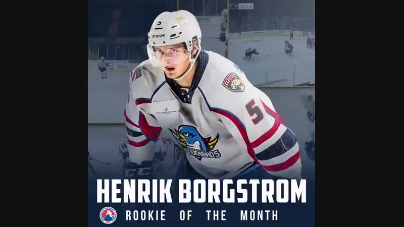 Henrik Borgstrom named the Ahl Rookie of the Month in October