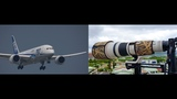 Can shoot the passengers Canon 1680mm lens ( PC-12, MD80, A330, ATR-72, 787)