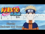 NARUTO OST - Sadness and Sorrow GUITAR TABS TUTORIAL Наруто на гитаре IМузыка из Наруто
