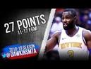 Tim Hardaway Jr Full Highlights 2018.11.10 Knicks vs Raptors - 27 Pts, 11-17 FGM!   FreeDawkins