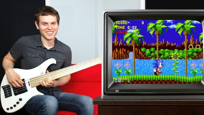 Sonic The Hedgehog Bass Guitar
