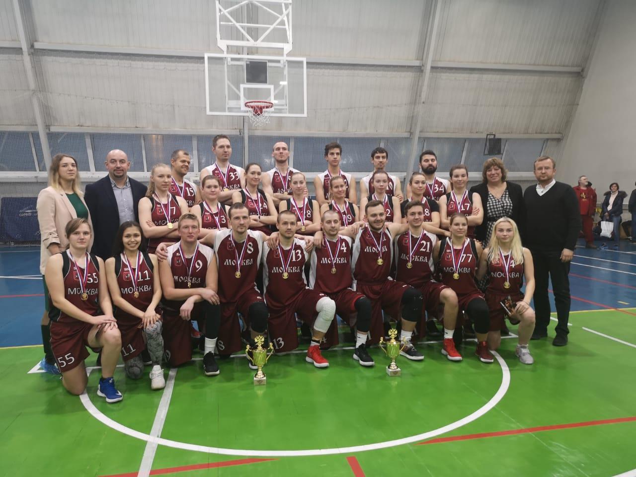 Женская и мужская команды МБА-Глория стали чемпионом России по спорту глухих