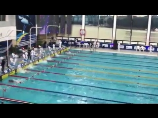 Колесников world record 100m backstroke - 48,9 по короткой воде